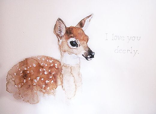 520x381 Watercolor Deer Piercing And Tattoos Watercolor