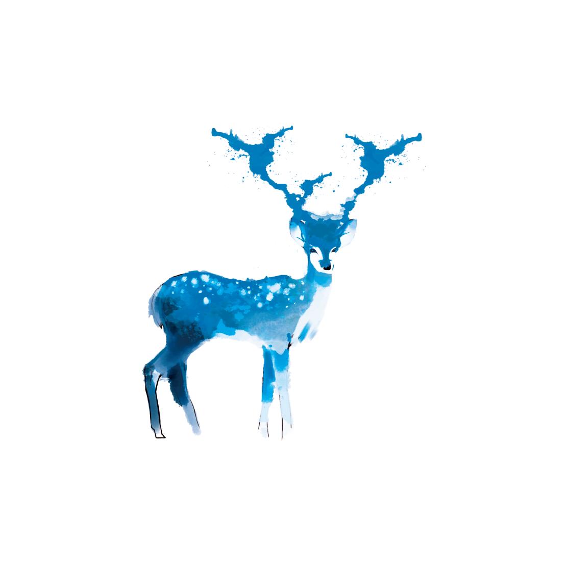1111x1111 Watercolor Deer