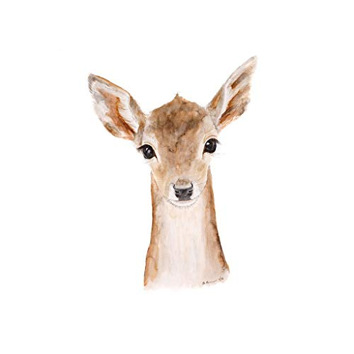 500x500 Baby Deer Watercolor Woodland Nursery Wall Art Print