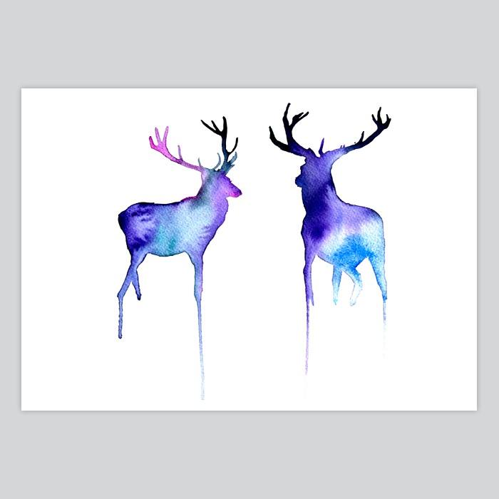 700x700 Watercolor Painting Deer