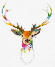 190x234 Watercolor Deer By Namo Spreadshirt