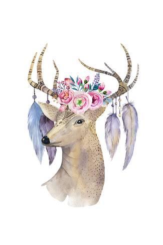 325x488 Boho Deer