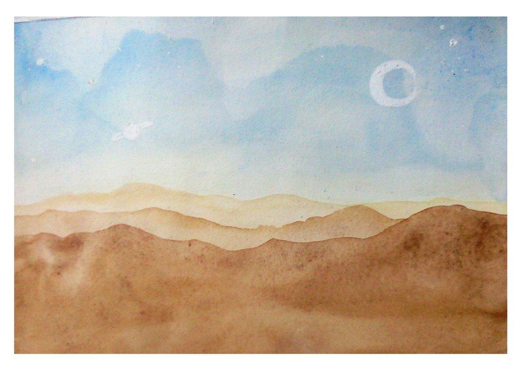 1024x724 Desert Watercolors By Shakalone