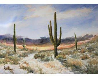 340x270 Desert Watercolor Etsy