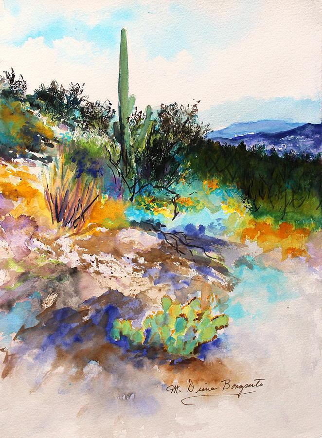 662x900 High Desert Scene 2 Painting By M Diane Bonaparte