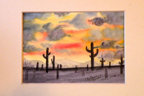 496x331 How To Paint A Watercolor Desert Sunset Hubpages