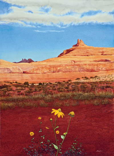 400x546 How To Paint A Western Landscape, Watercolor Demonstration By