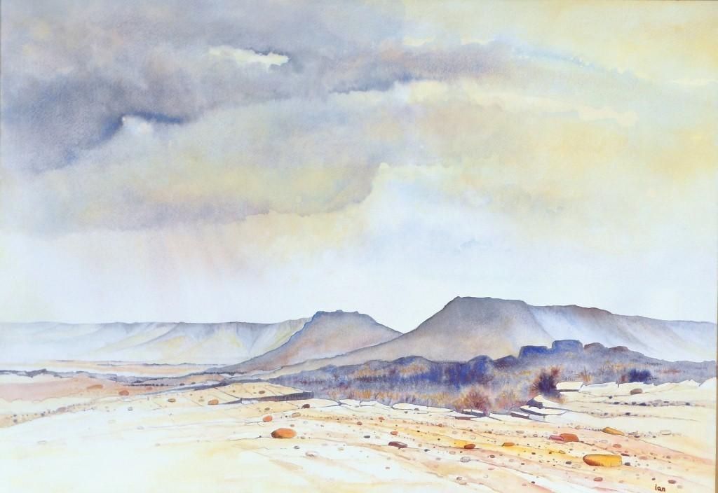 1024x704 Ian Willis Artwork Grey Sky Original Watercolor Landscape Art