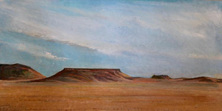 750x377 Lee Spurling, Desert Scene, Original Watercolor Painting