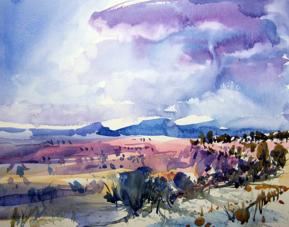 1000x785 Roytheartist And Friends Watercolor Of The Arizona Desert
