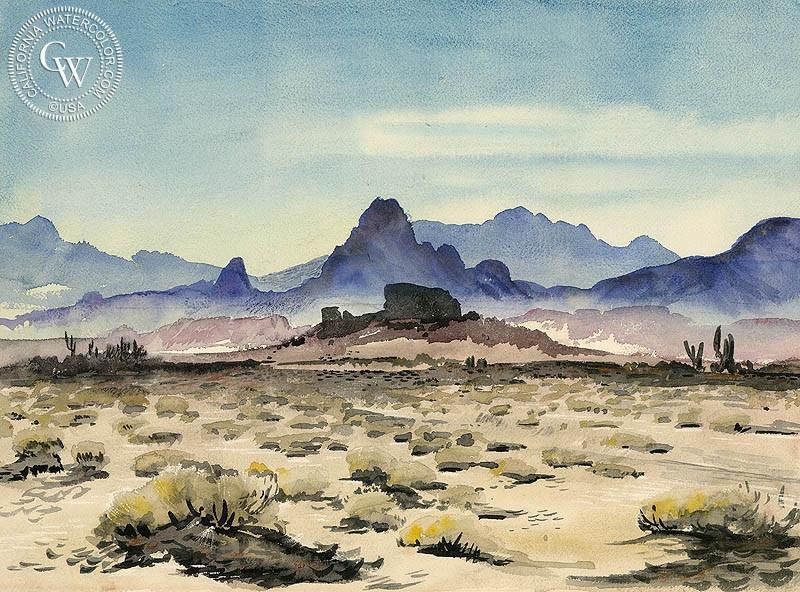 800x592 The Desert, Art By Lee Blair California Watercolor