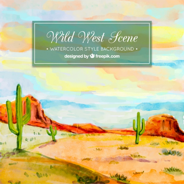 626x626 Watercolor Desert Background Stock Images