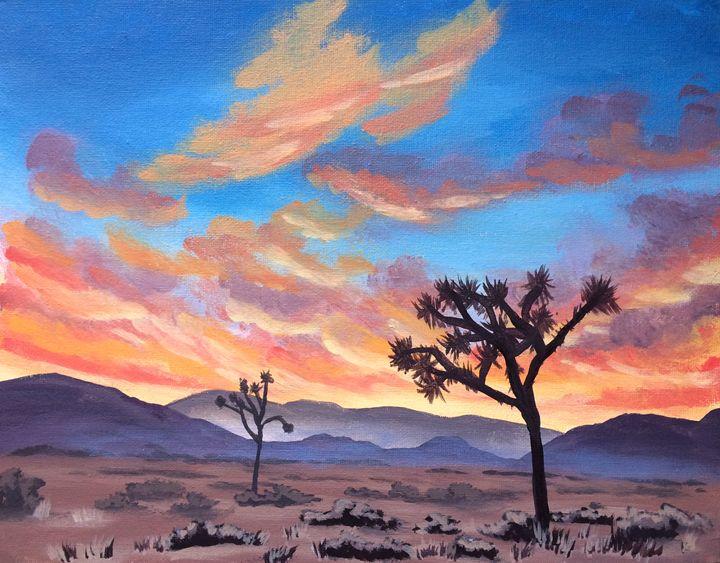 720x563 Desert Sunset