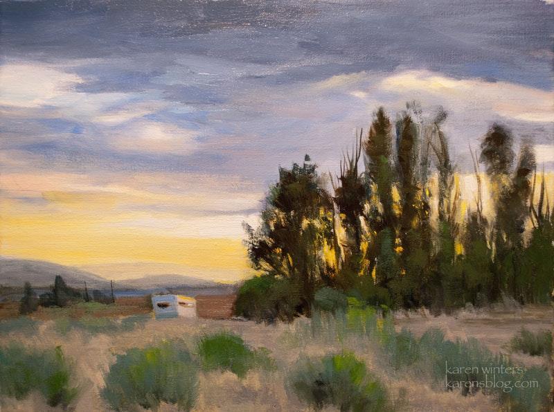 800x595 Mojave Desert Sunset Oil Painting