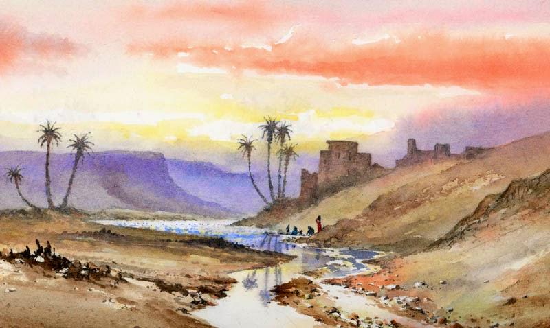 800x478 Davidbellamyart Painting Desert And Tropical Scenes In Watercolour