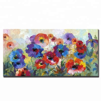 350x350 Cheap Price Watercolor Rich Detailed Modern Flower Oil Painting On