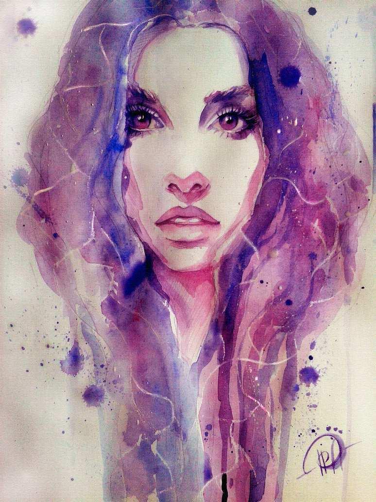 774x1032 Purple Painting Fresh Watercolor Purple By Poplavskaya On