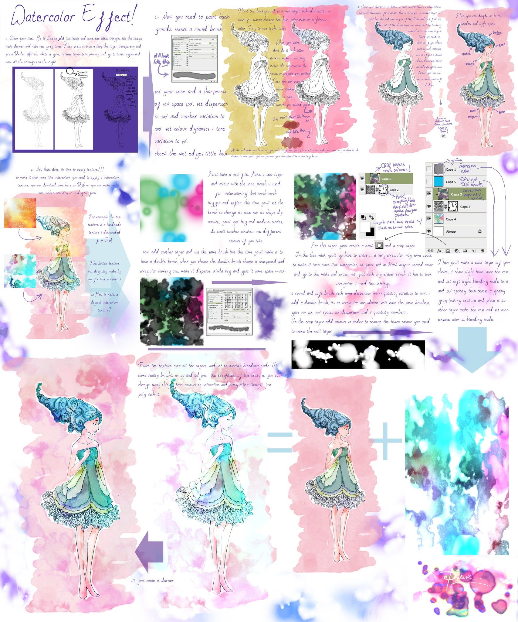 1707x2048 Digital Water Coloring New Watercolor Effect Tutorial By Palnk On