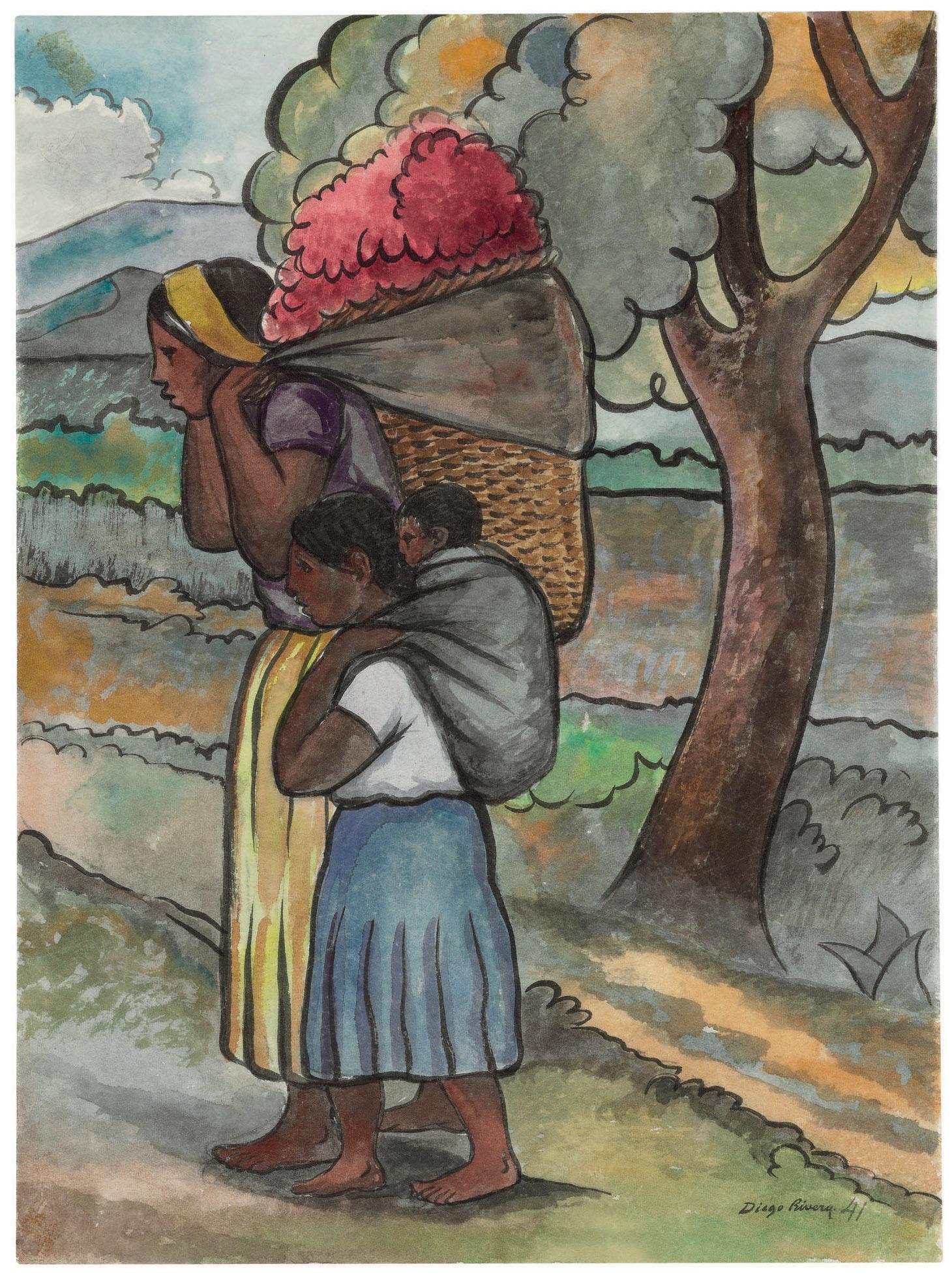 1460x1958 Diego Rivera (Mexican 1886 1957) Vendedora De Flores 1940s