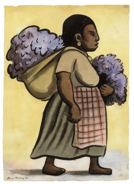512x703 Diego Rivera (Mexican 1886 1957) Watercolor On Rice Paper Diego