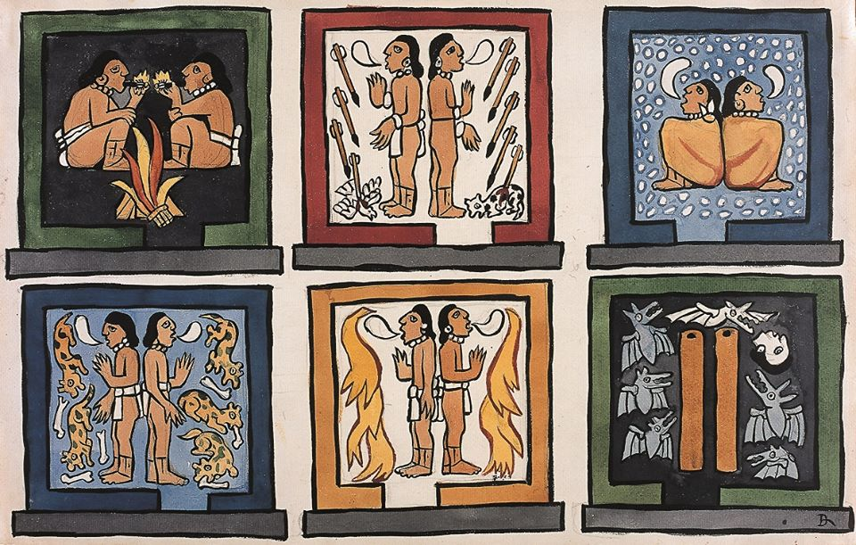 960x611 First U.s. Presentation Of Popol Vuh Watercolors Of Diego Rivera