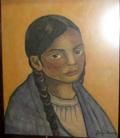 247x285 Mexican Girl In Braids Diego Rivera (Item