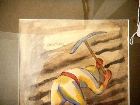 448x336 Authentic Diego Rivera Watercolor