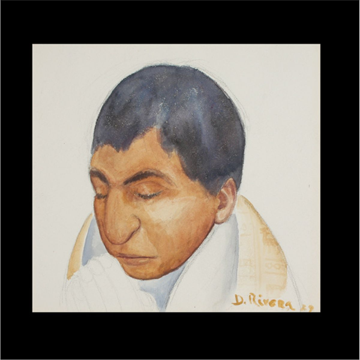 1200x1200 Diego Rivera, Portrait Study, Watercolor