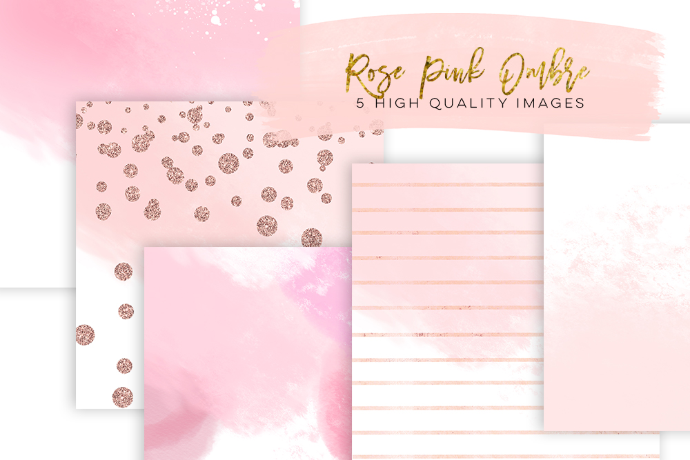 1000x667 Rose Gold Paper Watercolor Digital Paper, Rose Gold Scrapbook