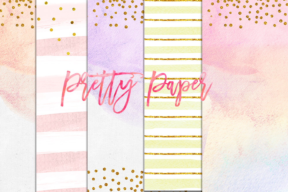1000x667 Digital Download Watercolor Paper, Confetti Gold Pastel Paper