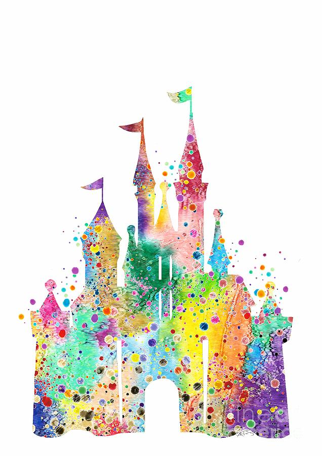 636x900 Disney Castle Watercolor Print Digital Art By Svetla Tancheva