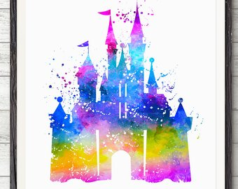 340x270 Disney Castle Poster Etsy