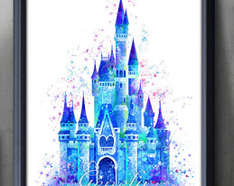 259x206 Download Disney Castle Watercolor Clipart Cinderella Castle