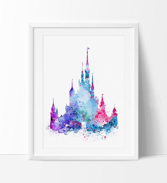 547x600 Art Print, Disney Castle Art Print, Disney Castle Art, Wall Art