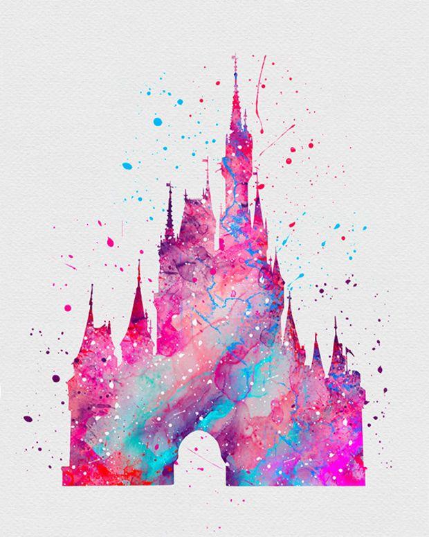 620x775 Cinderella Castle 2 Watercolor Art Stuff I Want