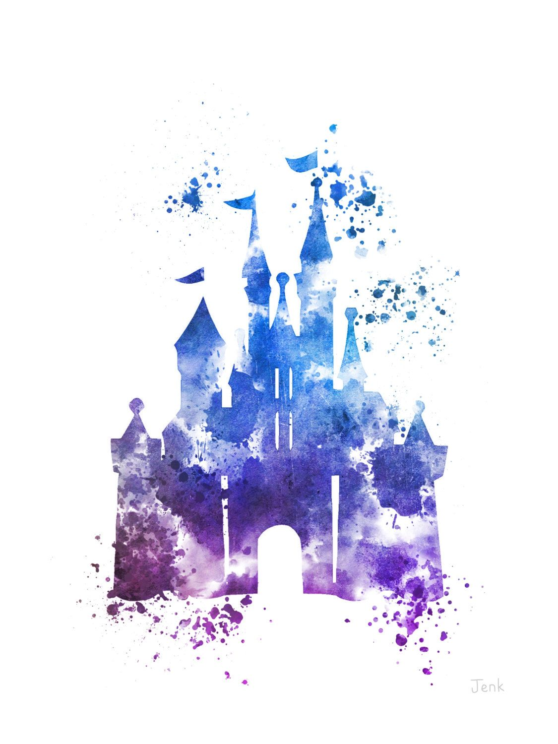 1125x1500 Cinderella Castle Art Print 4th Edition Illustration Disney