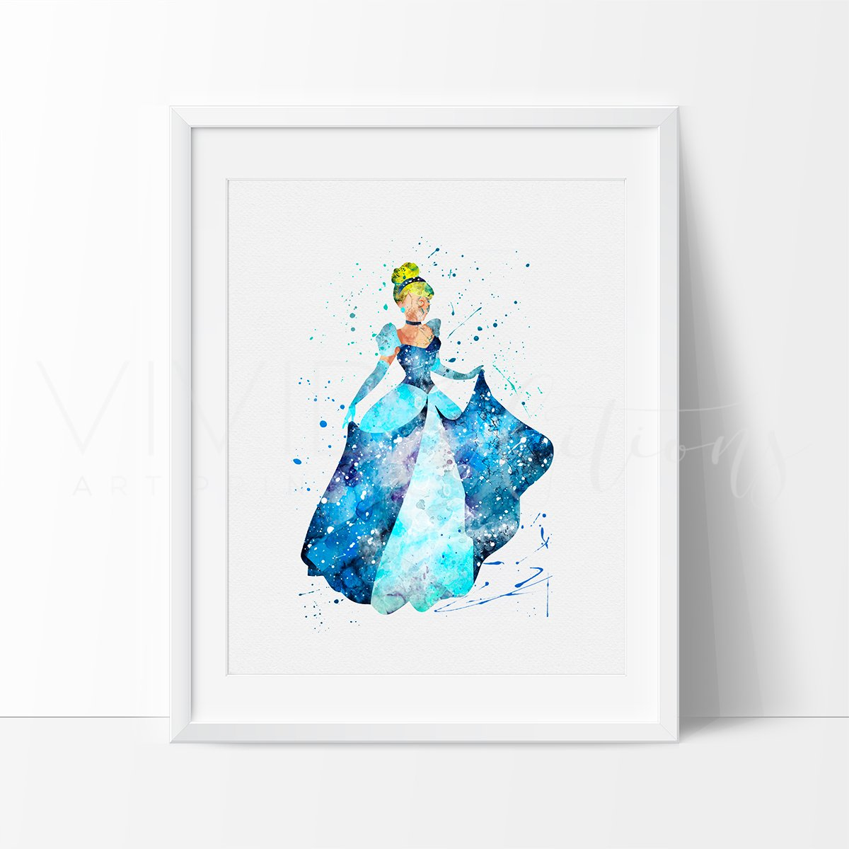 1200x1200 Cinderella Disney Princess Nursery Art Print Wall Decor