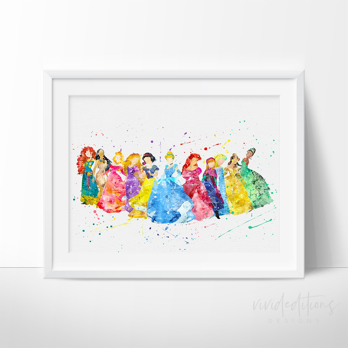 1200x1200 Disney Princesses Nursery Art Print Wall Decor