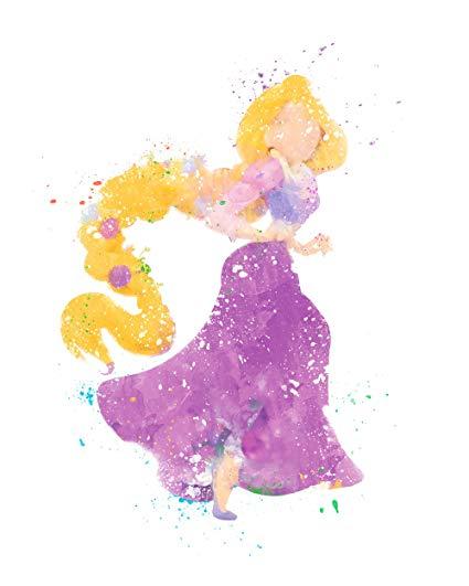 425x531 Rapunzel Tangled Disney Princess Watercolor Photo