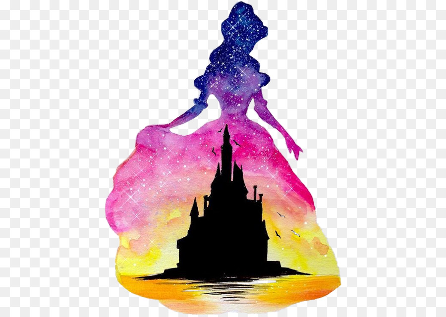 900x640 Aurora Belle Ariel Disney Princess Watercolor Painting