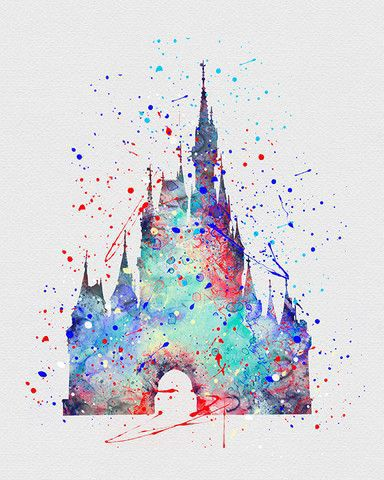 384x480 Diy Disney Watercolor Art