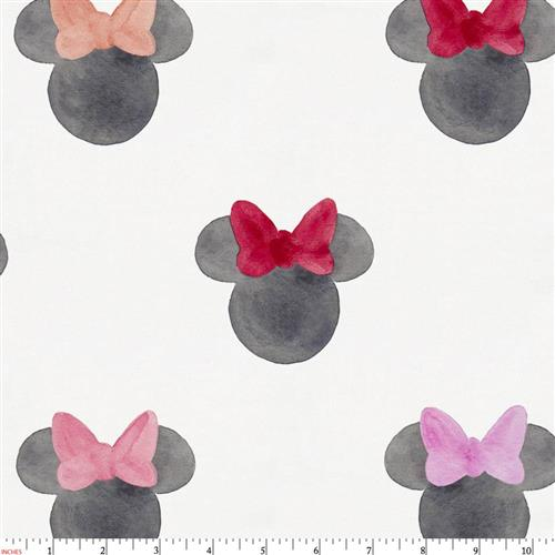 500x500 Disney Watercolor Minnie Ears Fabric By The Yard Coral Fabric