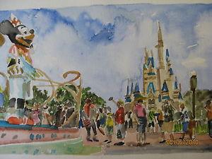 300x225 Disneyland Watercolor Print 8 12 X 10 12 Image 8 58 X 5
