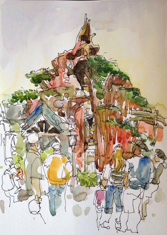569x800 Disneyland Sketch Away Travels With My Sketchbook