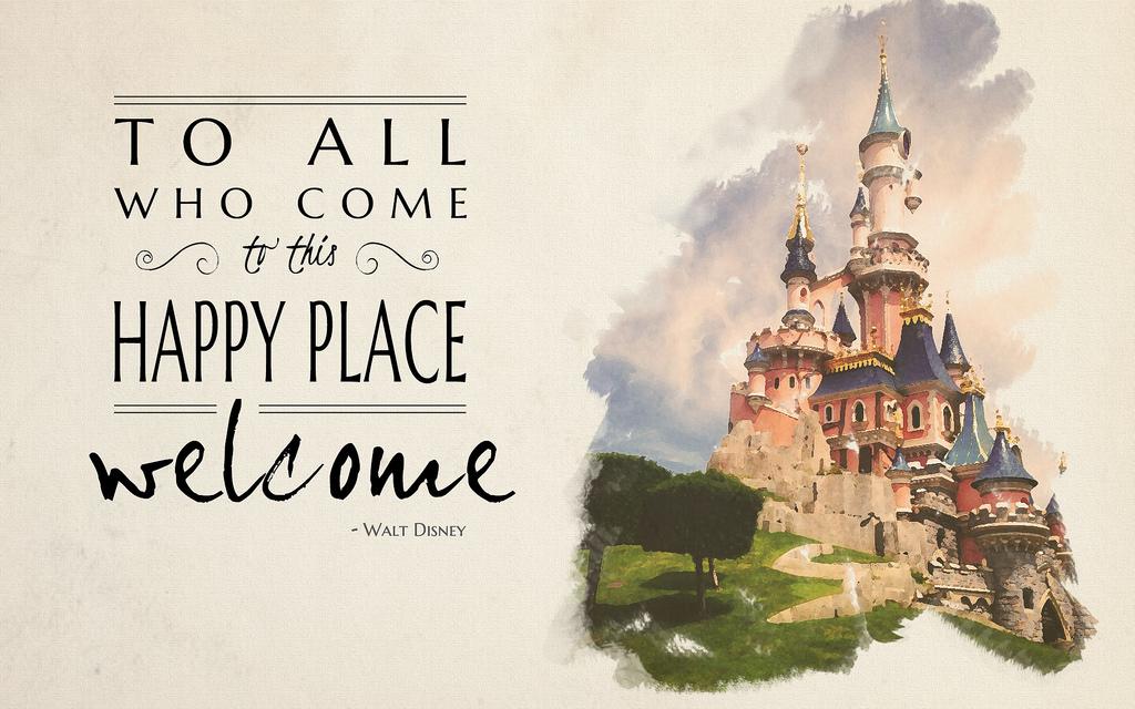 1024x640 Disneyland Paris Happy Place Graphic A Watercolor Graphic