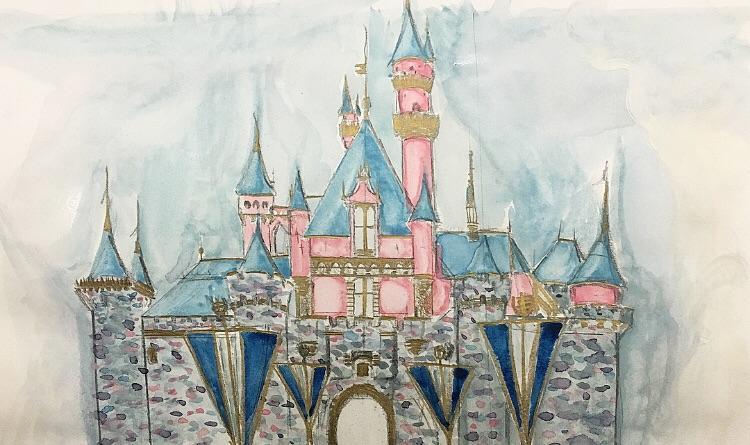 750x445 Finally Painted Sleeping Beautys Castle Watercolor Disneyland