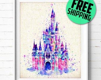 340x270 Items Similar To Cinderella Disney Princess Original Watercolor