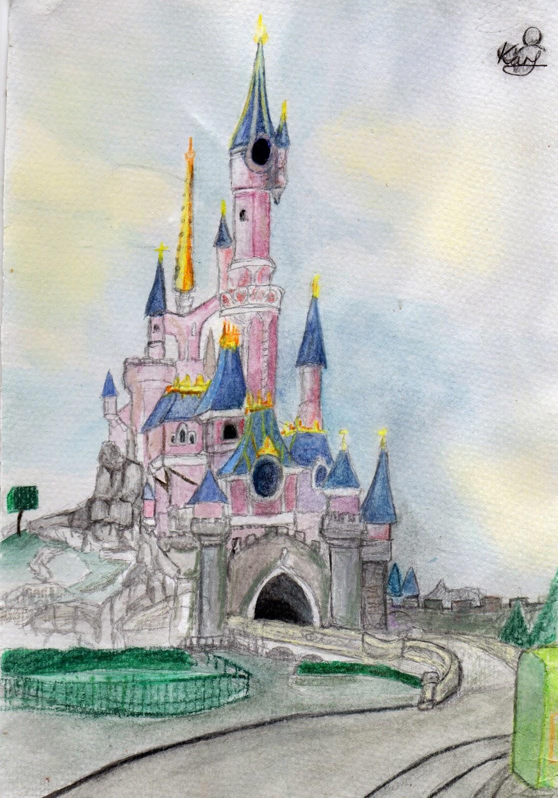 1118x1600 My Artwork Disneyland Resort Paris Water Colour Painting
