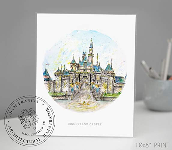 573x500 Disneyland Castle Disney Art Art Prints Home