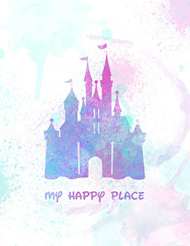 386x500 My Happy Place Disneyland Inspired Watercolor Print